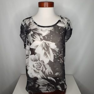 American Eagle OutfittersShirt Sz XL Sheer Floral